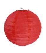 2 Lanternes 20 cm Rouge