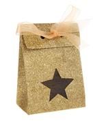 4 Boîtes étoile pailletée Or