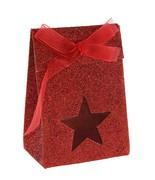 Boîte étoile pailletée Rouge