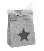 4 Boîtes étoile pailletée Argent