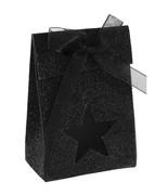 4 Boîtes étoile pailletée Noir