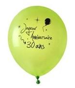 8 Ballons Anniversaire 30 ans Vert