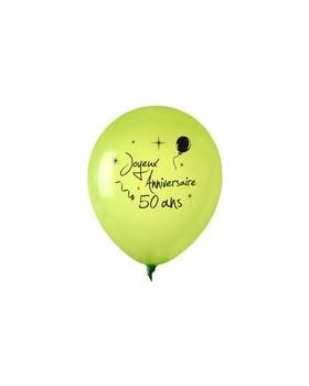 Ballon anniversaire 50 ans ballon d co de salle - Decoration de salle anniversaire 50 ans ...