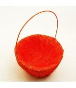 Panier pétales sisal Orange