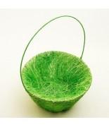 Panier pétales sisal Vert