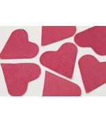 Coeurs en papier Bordeaux 75 grs