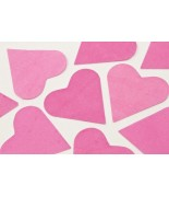 Coeurs en papier Fuchsia 75 grs