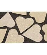 Coeurs en papier Ivoire 75 grs