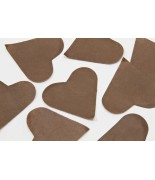 Coeurs en papier Chocolat 75 grs