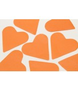 Coeurs en papier Orange 75 grs