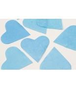 Coeurs en papier Turquoise 75 grs