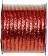 20 m Cordon papier métallisé Rouge