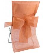 10 Housses de chaise avec noeud Pêche / Corail
