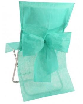 10 Housses de chaise avec noeud Vert d'eau