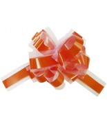 5 Grands noeuds automatique tulle Orange