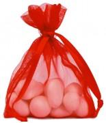 10 Sachets Organdi Uni Rouge