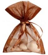 10 Sachets Organdi Uni Chocolat