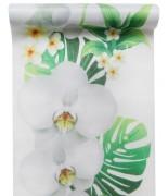 Chemin de table Orchidée Vert