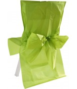 10 Housses de chaise satin avec noeud Vert