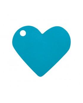 10 Marque-places cœur Turquoise