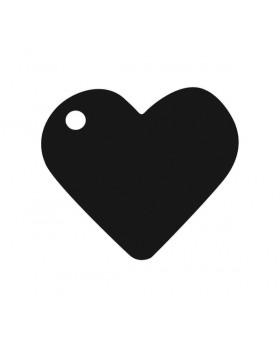 10 Marque-places cœur Noir