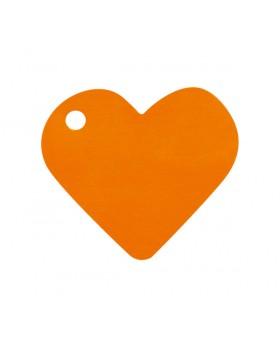 10 Marque-places cœur Orange