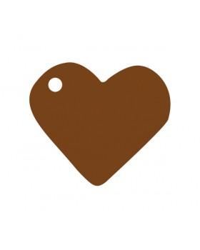 10 Marque-places cœur Chocolat