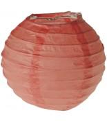 2 Lanternes 10 cm Pêche / Corail