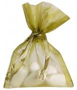 10 Sachets Organdi Uni Vert Olive