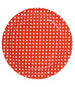 10 Assiettes pois Rouge