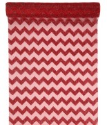 Chemin de table Chevron pailleté Rouge