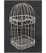 Cage métallique pour carte de voeux Blanc