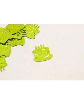 Confettis de table gateau anniversaire Vert