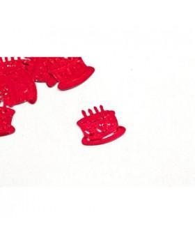 Confettis de table gateau anniversaire Rouge