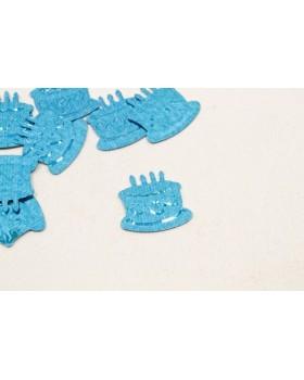 Confettis de table gateau anniversaire Turquoise