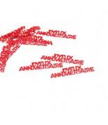 Confettis de table joyeux anniversaire Rouge