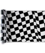 Chemin de table f1 racing métallisé Blanc / Noir