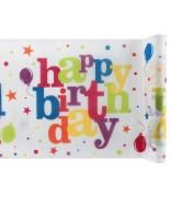 Chemin de table Happy Birthday festif