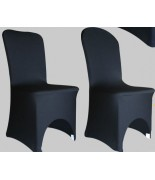 Housse de chaise Lycra Noir