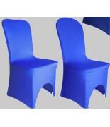 Housse de chaise Lycra Bleu royal