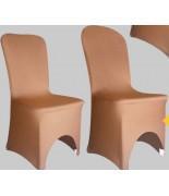 Housse de chaise Lycra Café