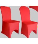 Housse de chaise Lycra Rouge