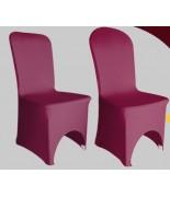 Housse de chaise Lycra Bordeaux