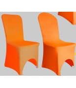 Housse de chaise Lycra orange