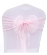 Noeud en organza Rose