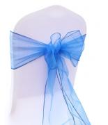 Noeud en organza Bleu Royal