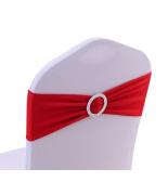 Noeud en Jersey Rouge avec boucle Argent