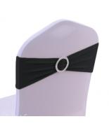 Noeud en Jersey Noir avec boucle Argent