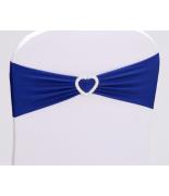 Noeud en Jersey Bleu avec coeur Argent