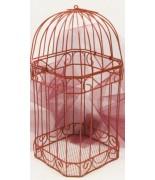 Cage métallique pour carte de voeux Rouge